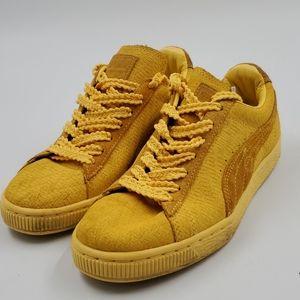 Puma Mustard Yellow Leather Puma Shoes